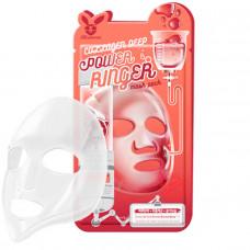 Тканевая маска с коллагеном   Collagen Deep Power Ringer Mask Pack   Elizavecca
